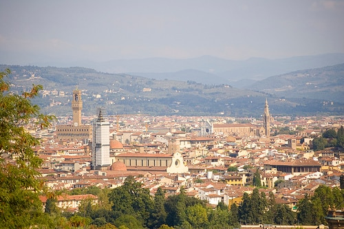 the overview of Florence from Bellosguardo (1 Km far From our home)