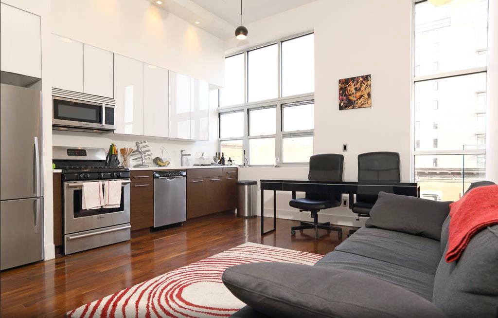 Modern Bedroom in Williamsburg Loft