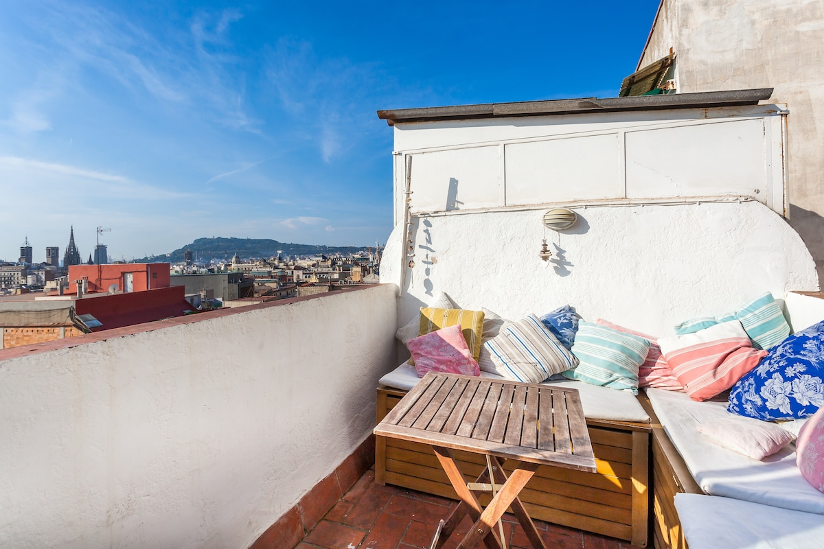 BEST VIEWS OF BARCELONA's penthouse