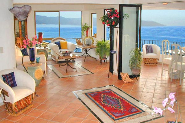The Living Room Opens Onto The Terrace And Ocean