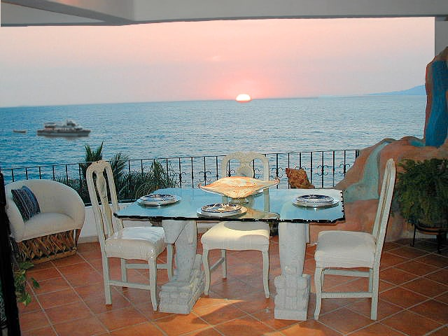 Sunset Dining On The Terrace Is Always Spectacular
