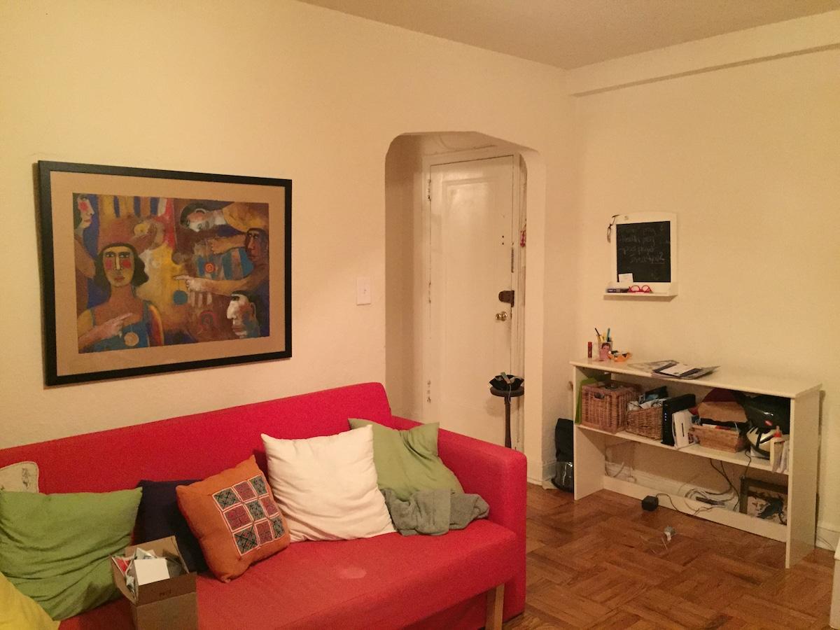Spacious 1BR apartment w/ park view