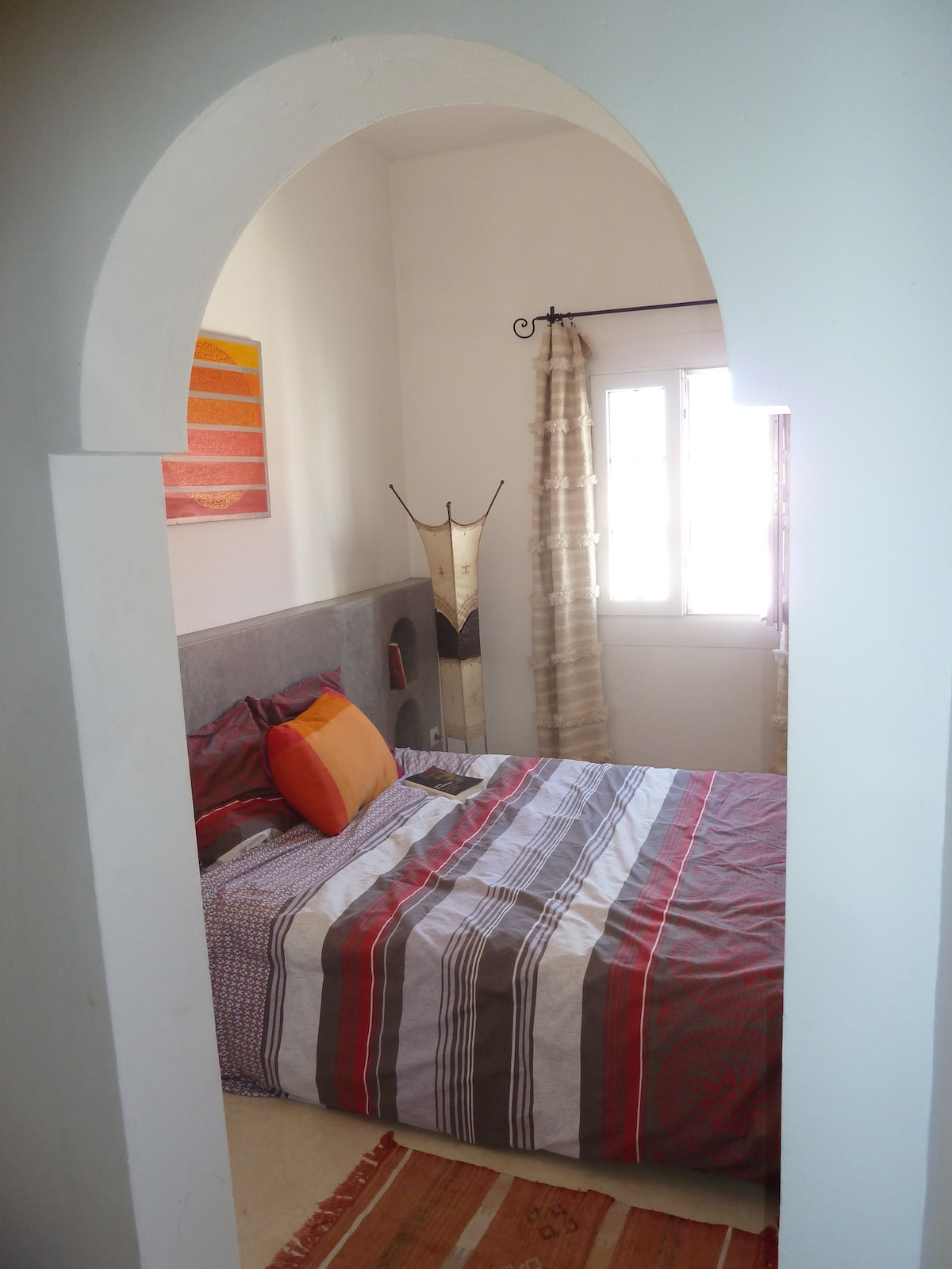 """""""Sheherazade"""" is a very nice master bedroom, with stunning street view, overlooking the famous  """"Khaima square"""""""