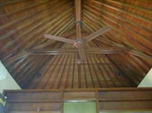Passionfruit Room - Balinese wooden building style for roof and ceiling with fan