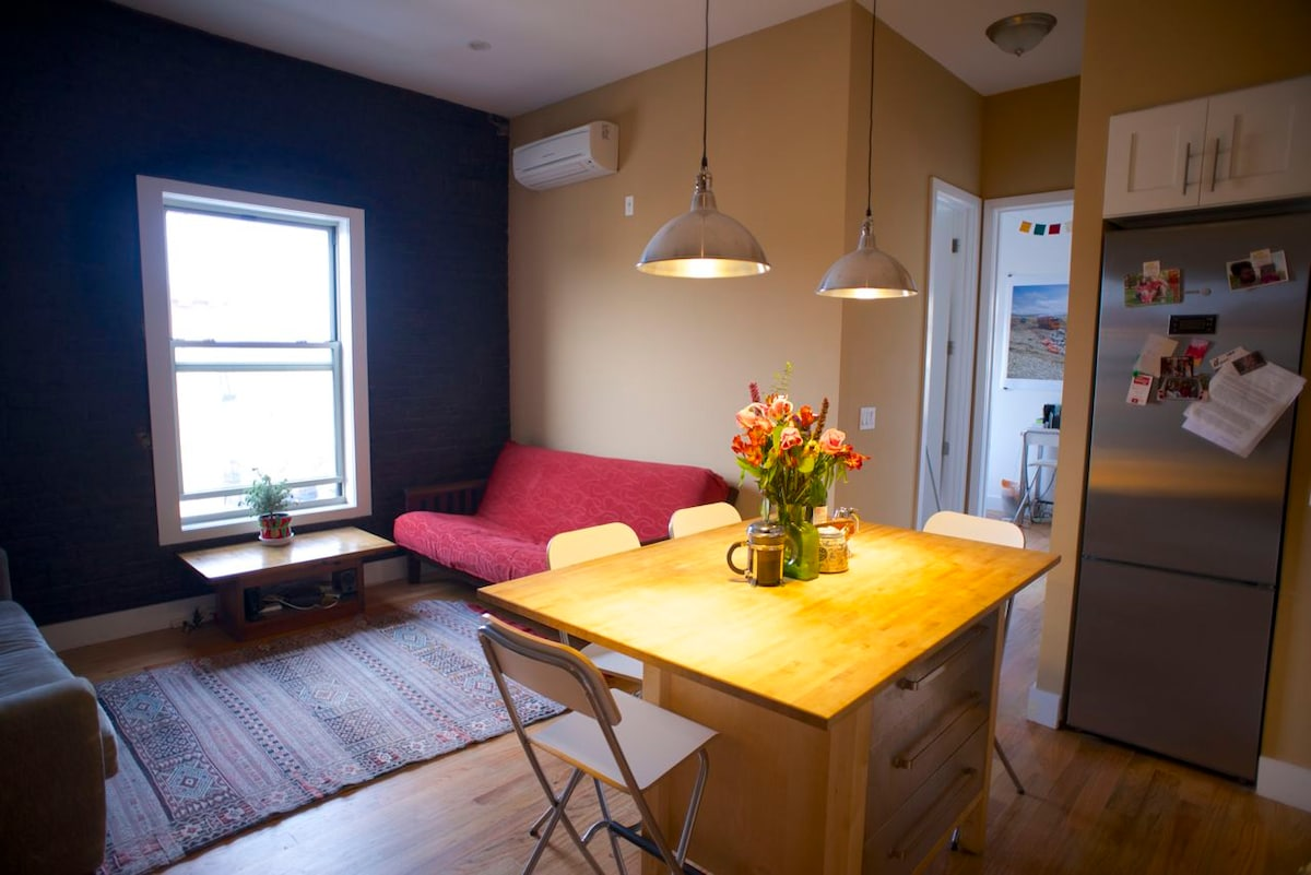 spacious room + unbeatable location