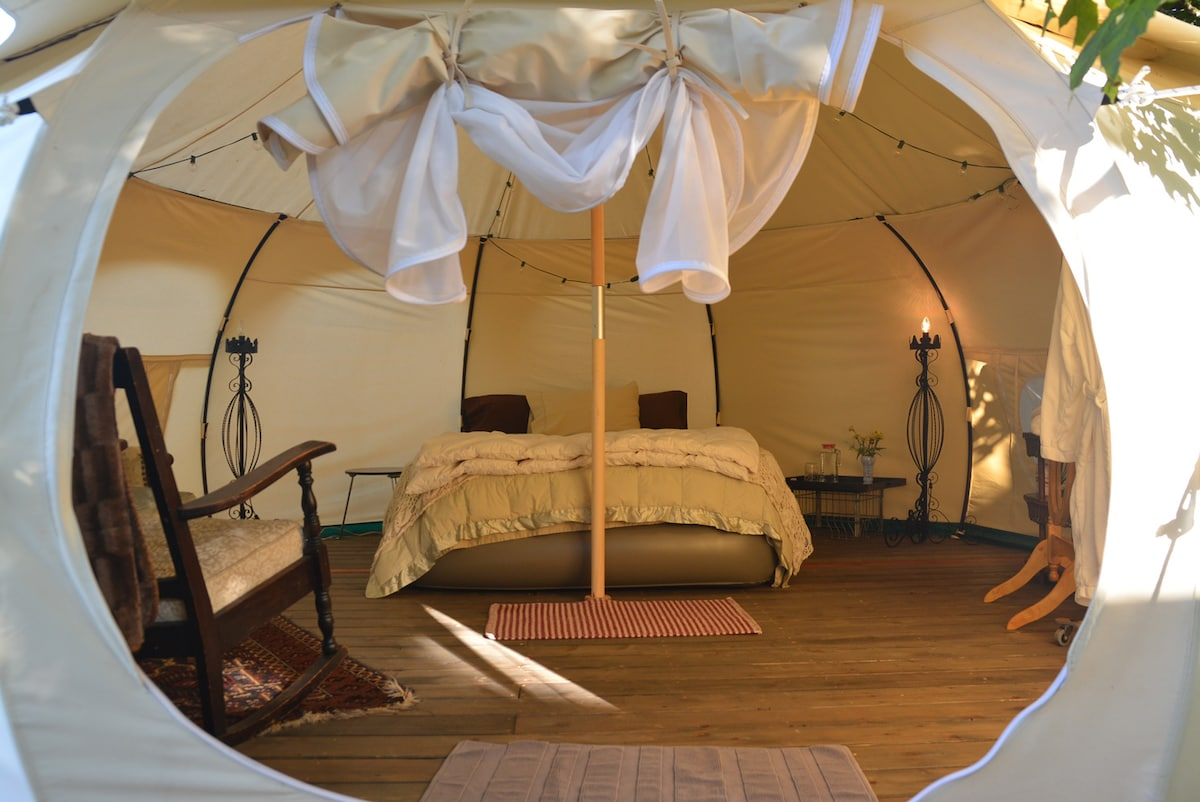 Ultimate Glamping Tent @ Urban Farm