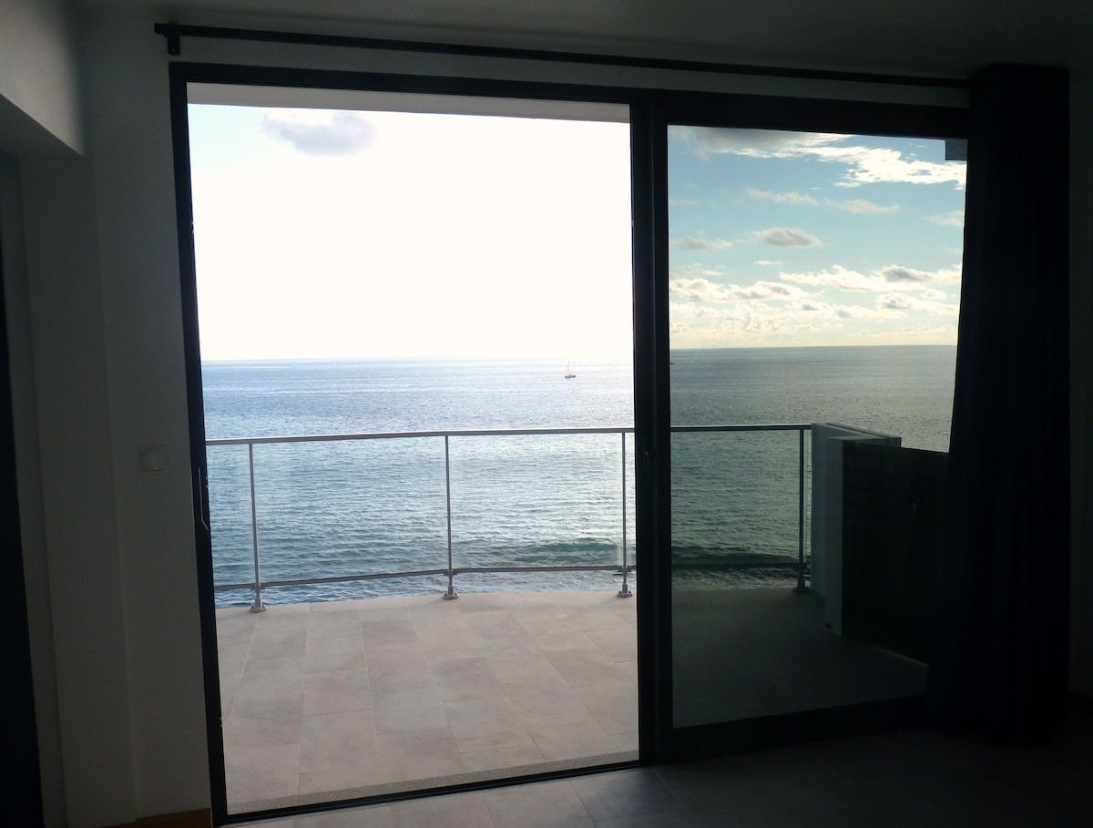 Bedroom View from the flat closest to the sea!