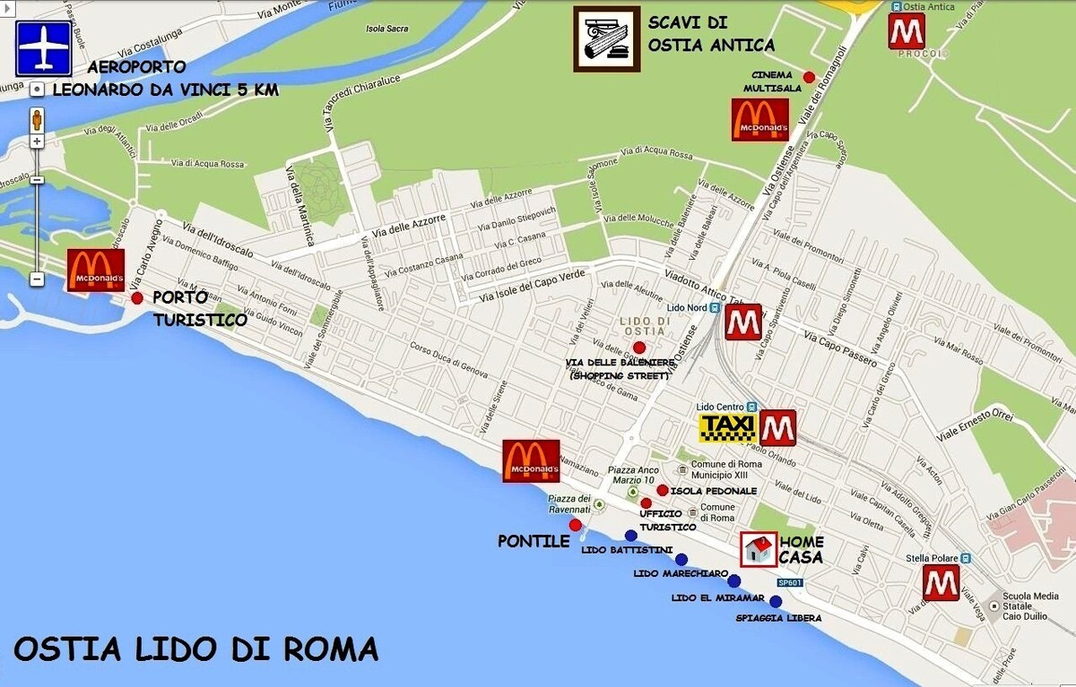 OSTIA Holiday in Rome near the sea!