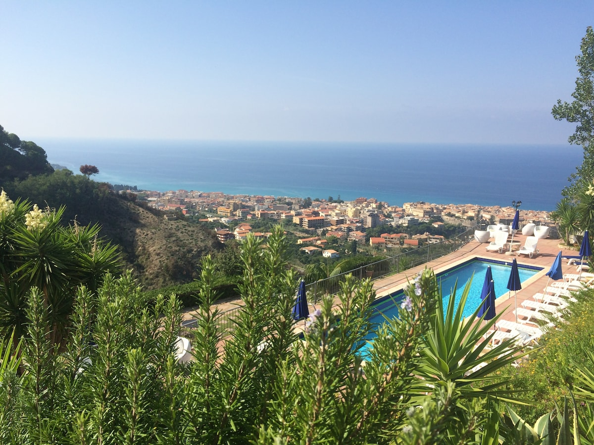 Pool,View,Garden,4km from Tropea