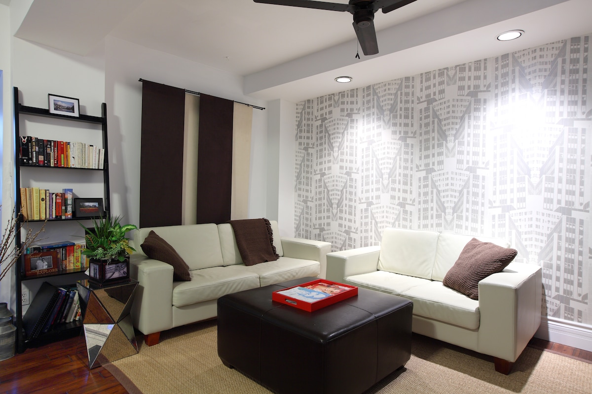 Living room with fan