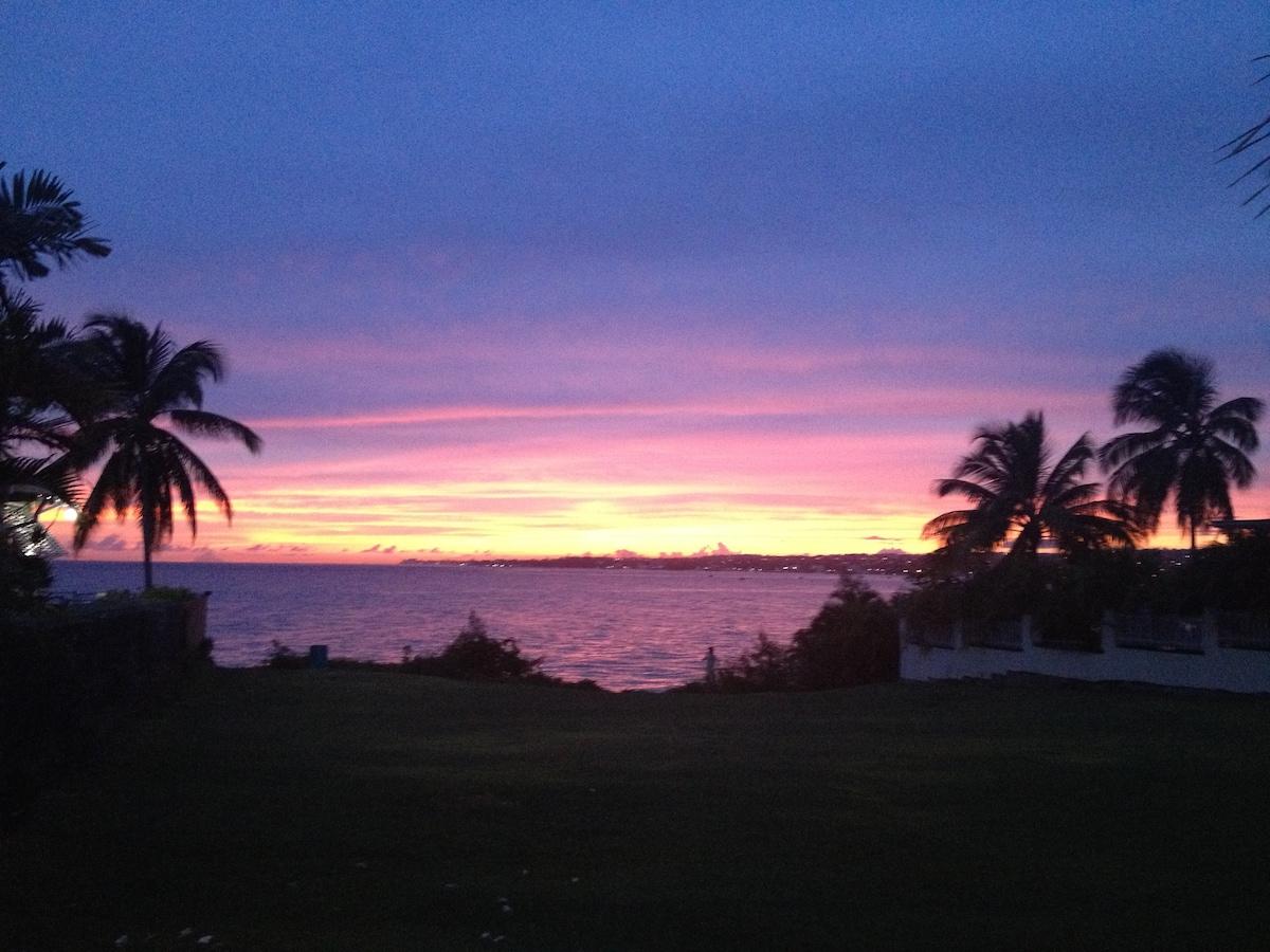 Sunset in front of Sea La Vie