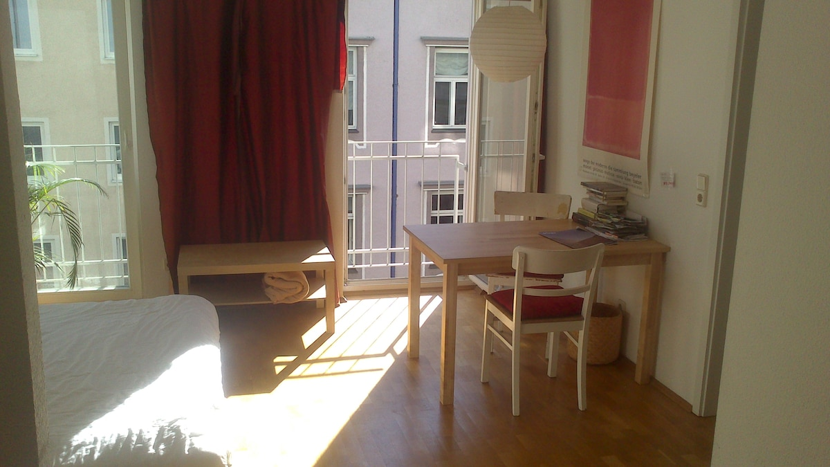 table with view to the window