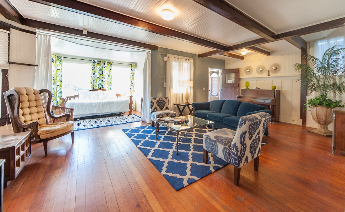 Living room/ sunroom with day bed/trundle