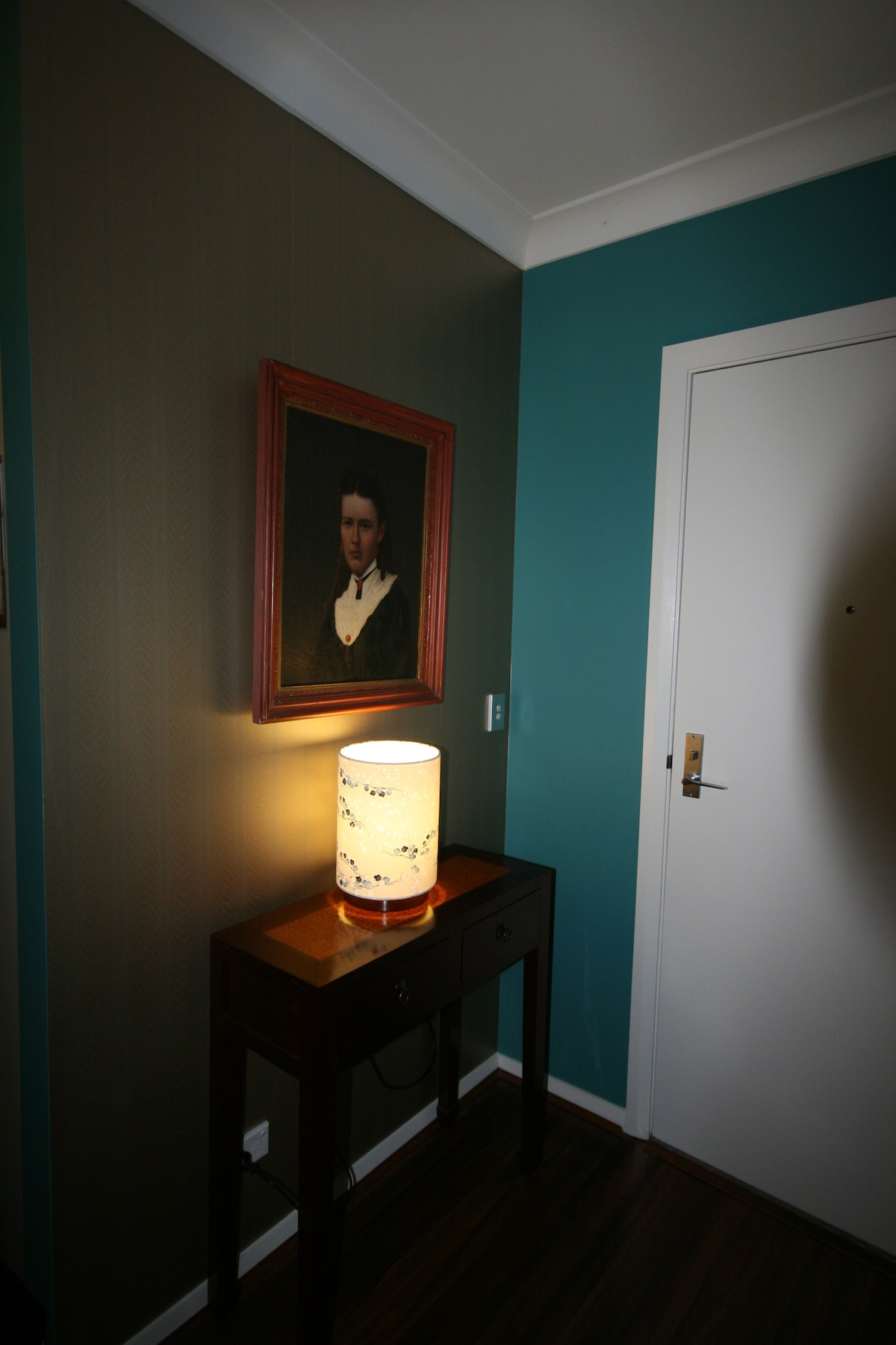 Old painting, new lamp, from local designer Graham and Graham of redfern