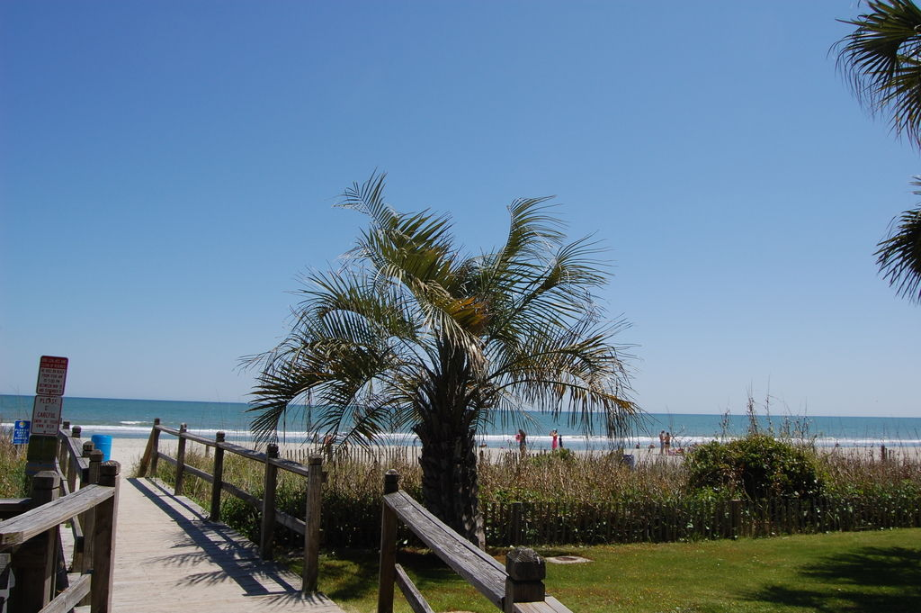 Walkway to the ocean and beach