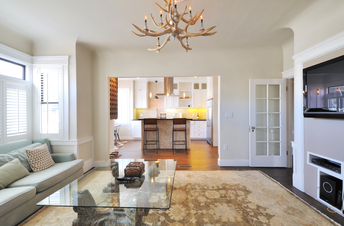 Modern 2BR Apt with Rustic Accents