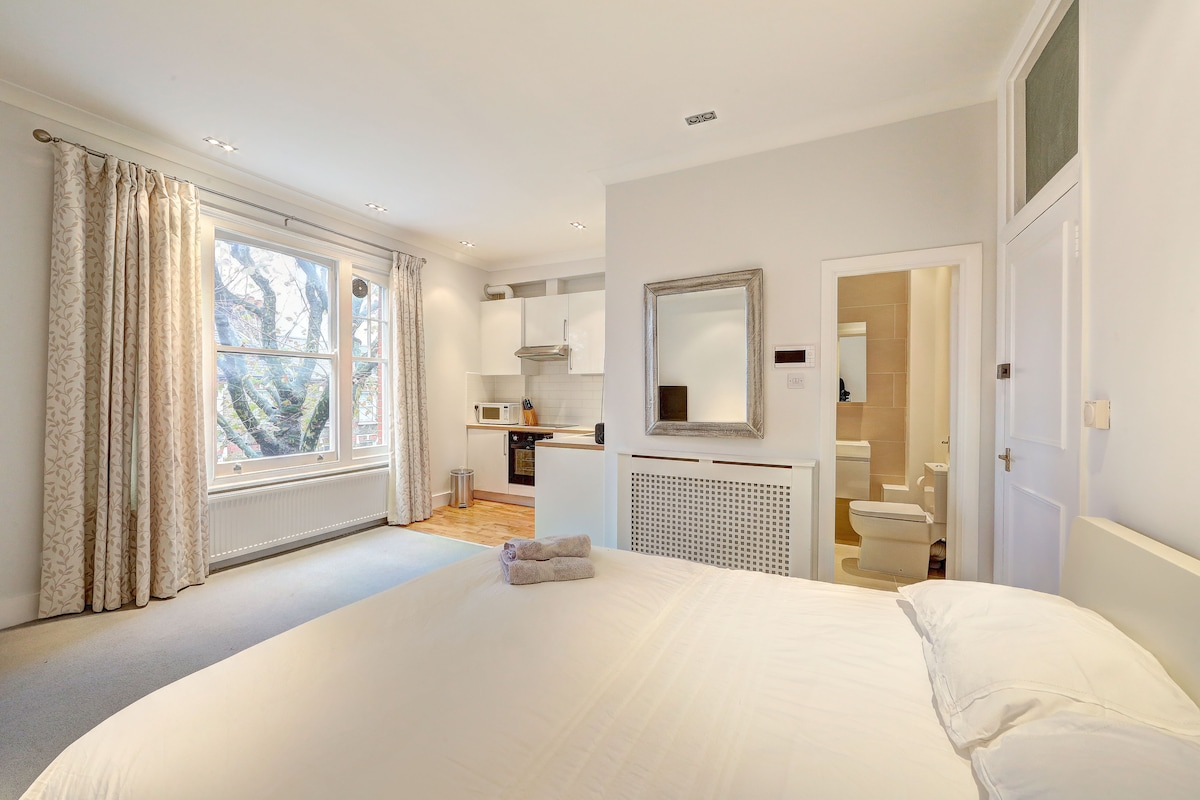 A newly designed studio apartment