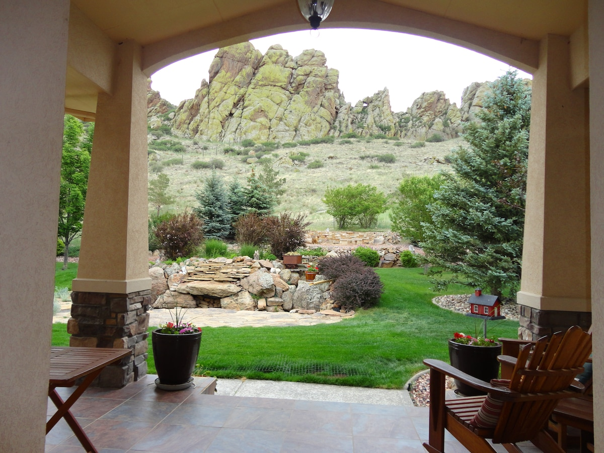 View of Devil's Backbone out the front door.