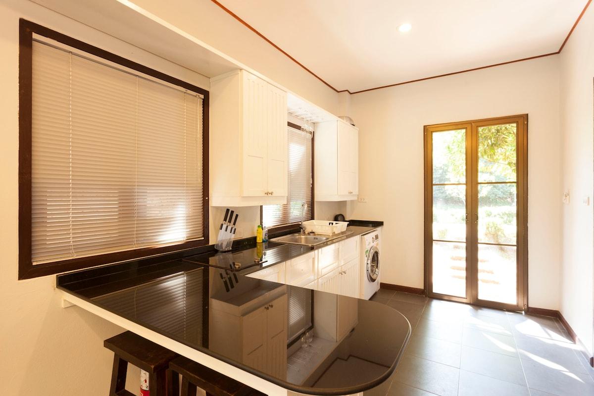 Granite-topped kitchen