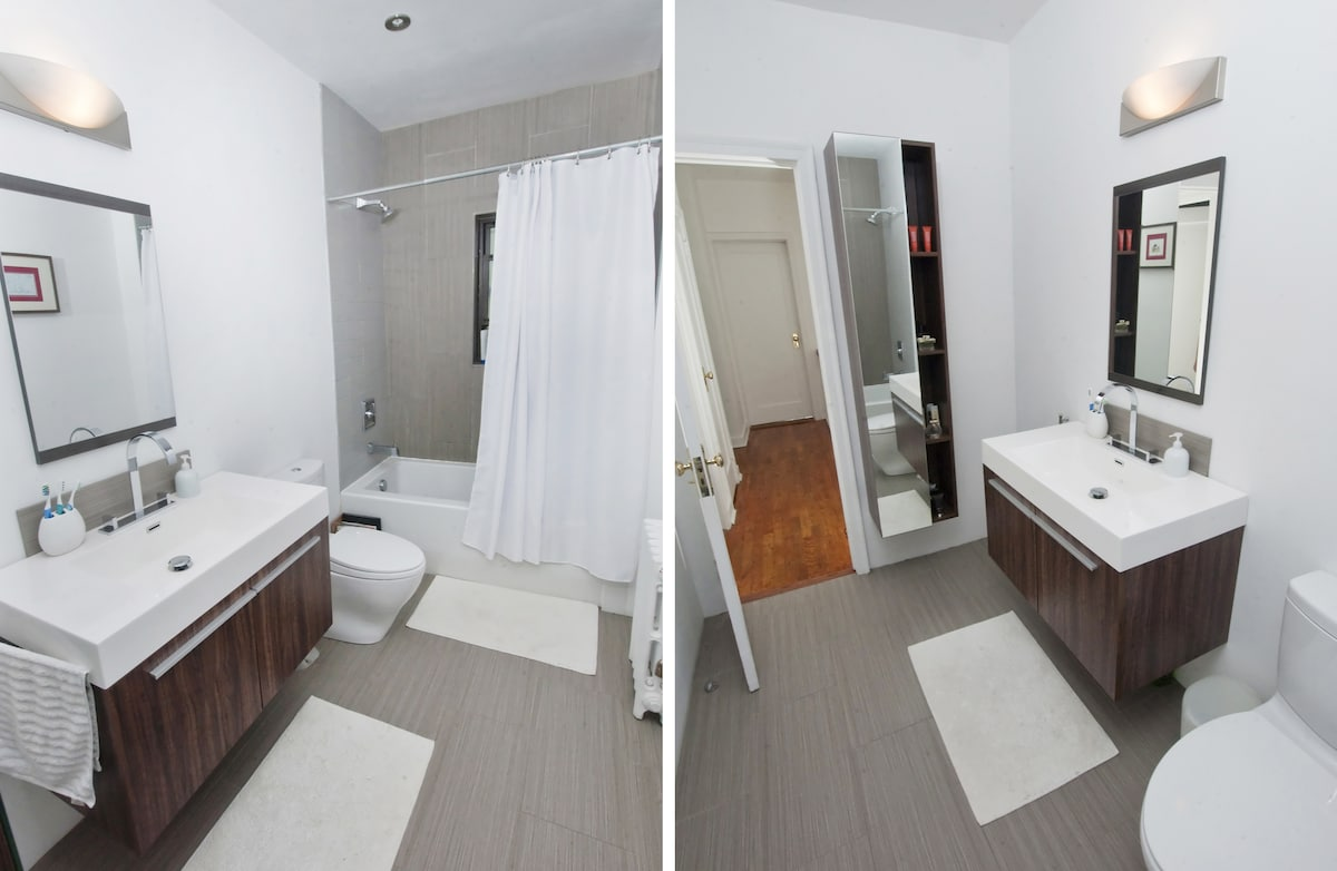 Bathroom, View from Inside and Outside