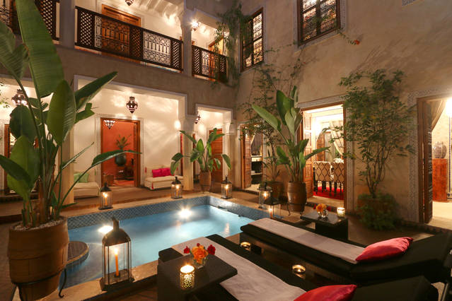 The Riad by night is also a  dream. Photo Airbnb