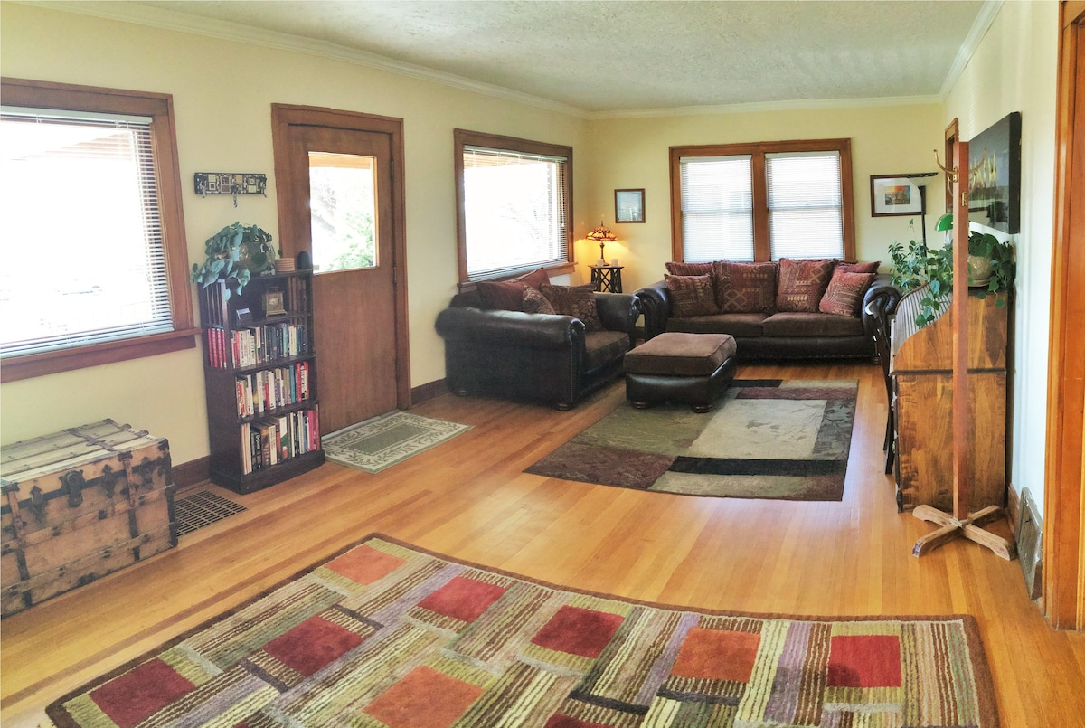 Home is filled with antiques and other amenities to make you feel at home