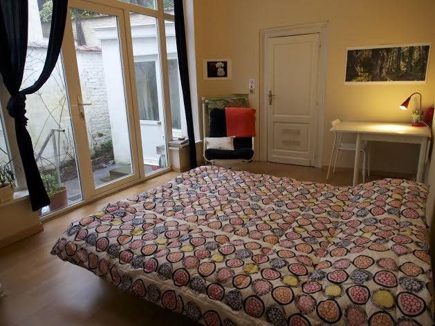 Bright room in character apartment