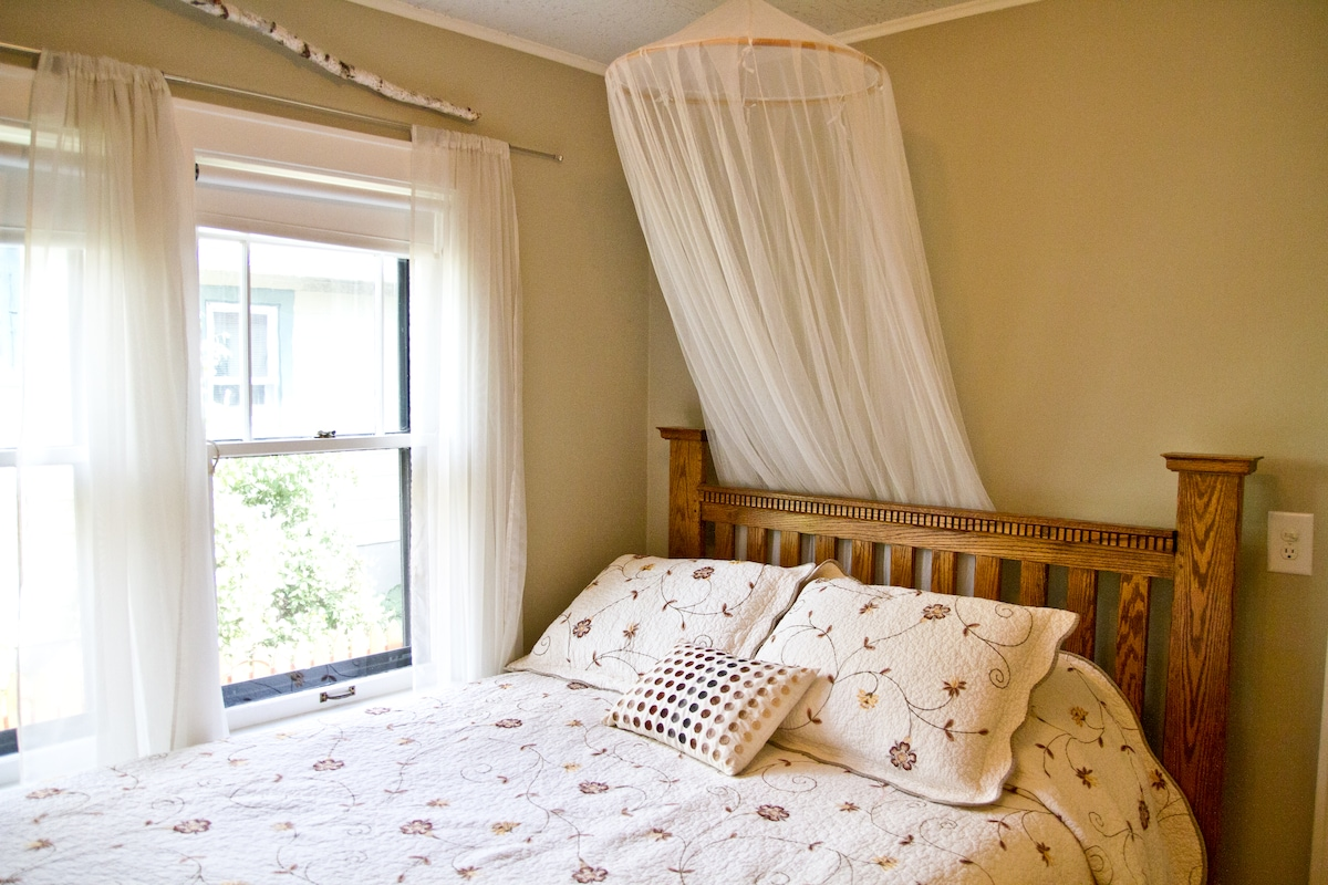 Peaceful, Nature Inspired Bedroom