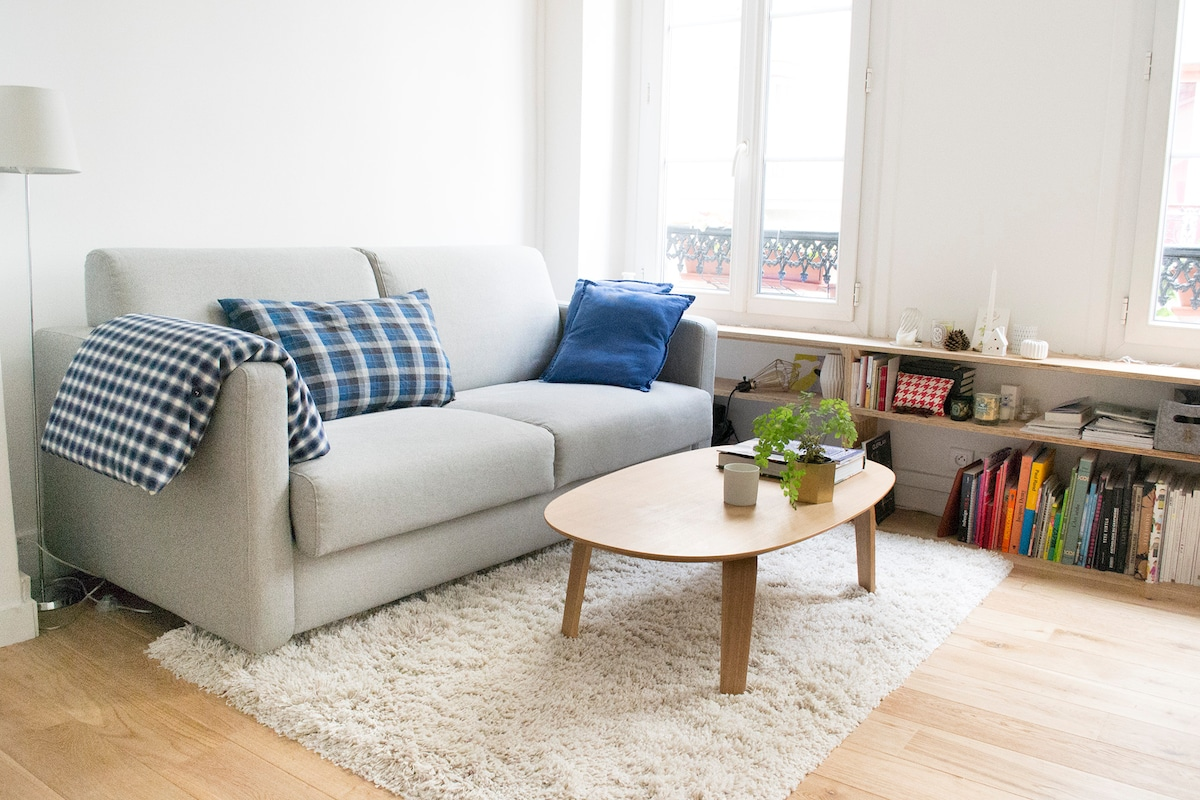 Close to Buttes Chaumont, cosy flat