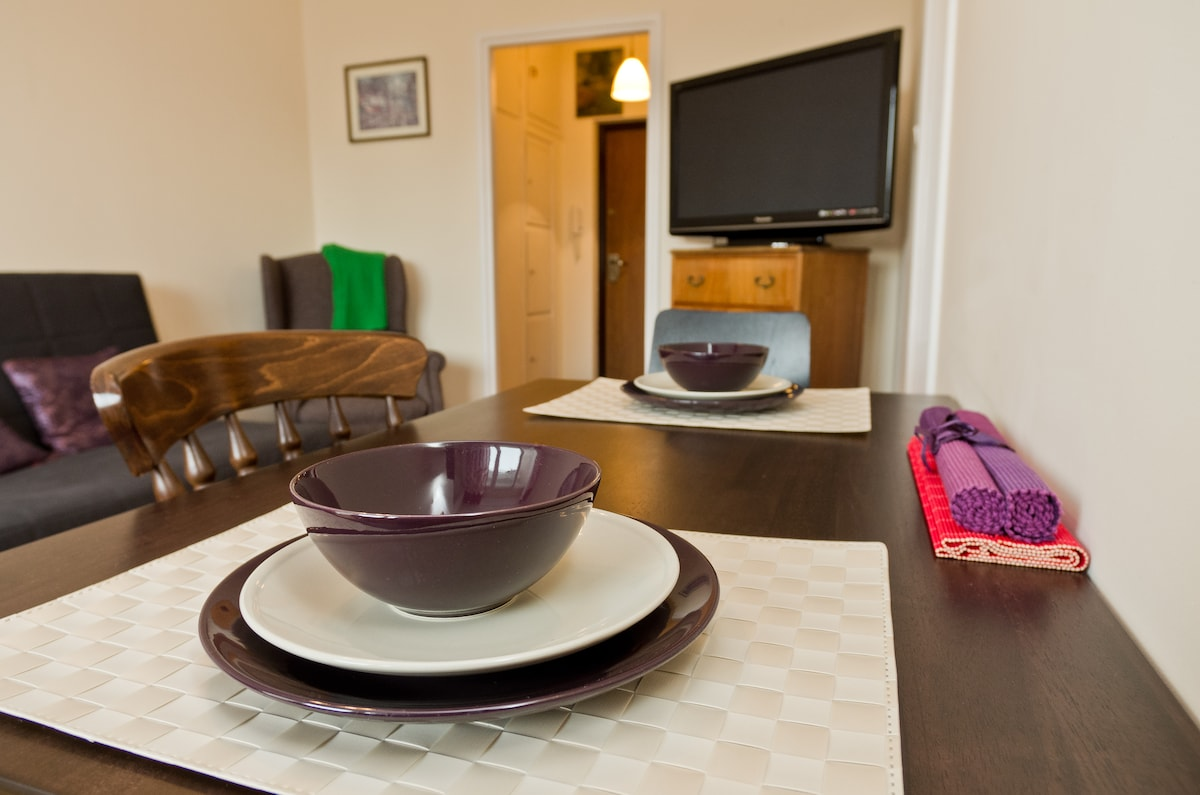 The table can be used both as a fixed dining place or as a desk. Electric socket is right under. Lamp bracket is right above.