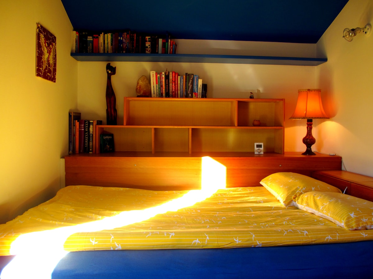 Funky Room With a French Bed