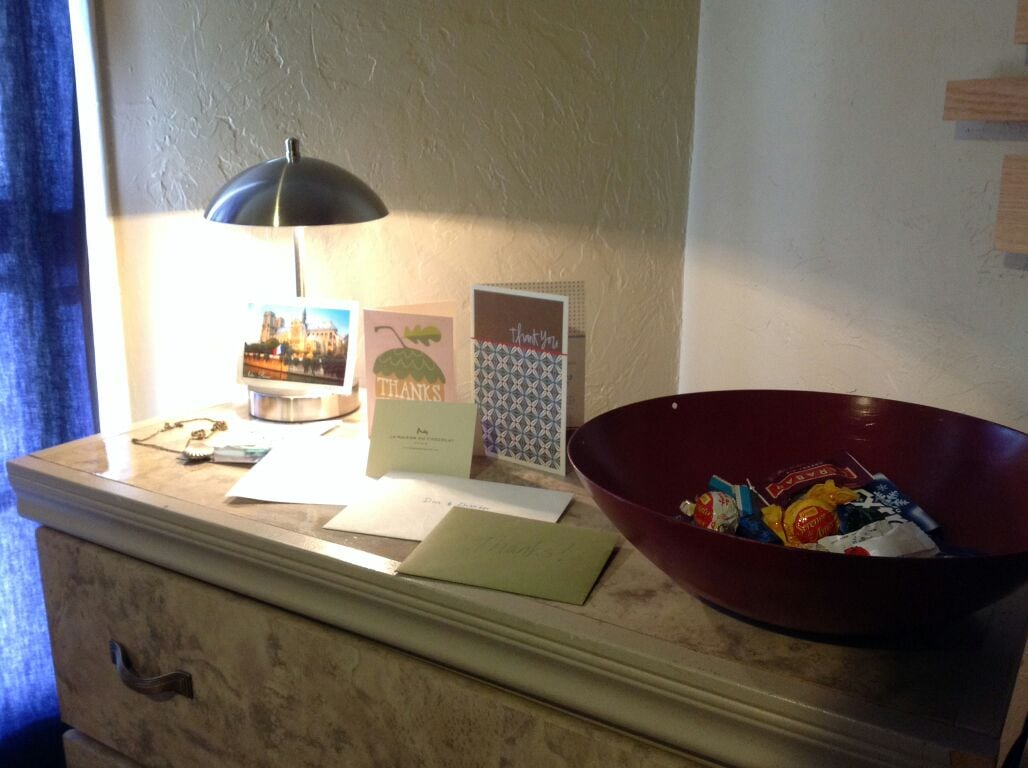 A simple snack bowl is provided to appease those munchies  when you want to just stay in and relax.