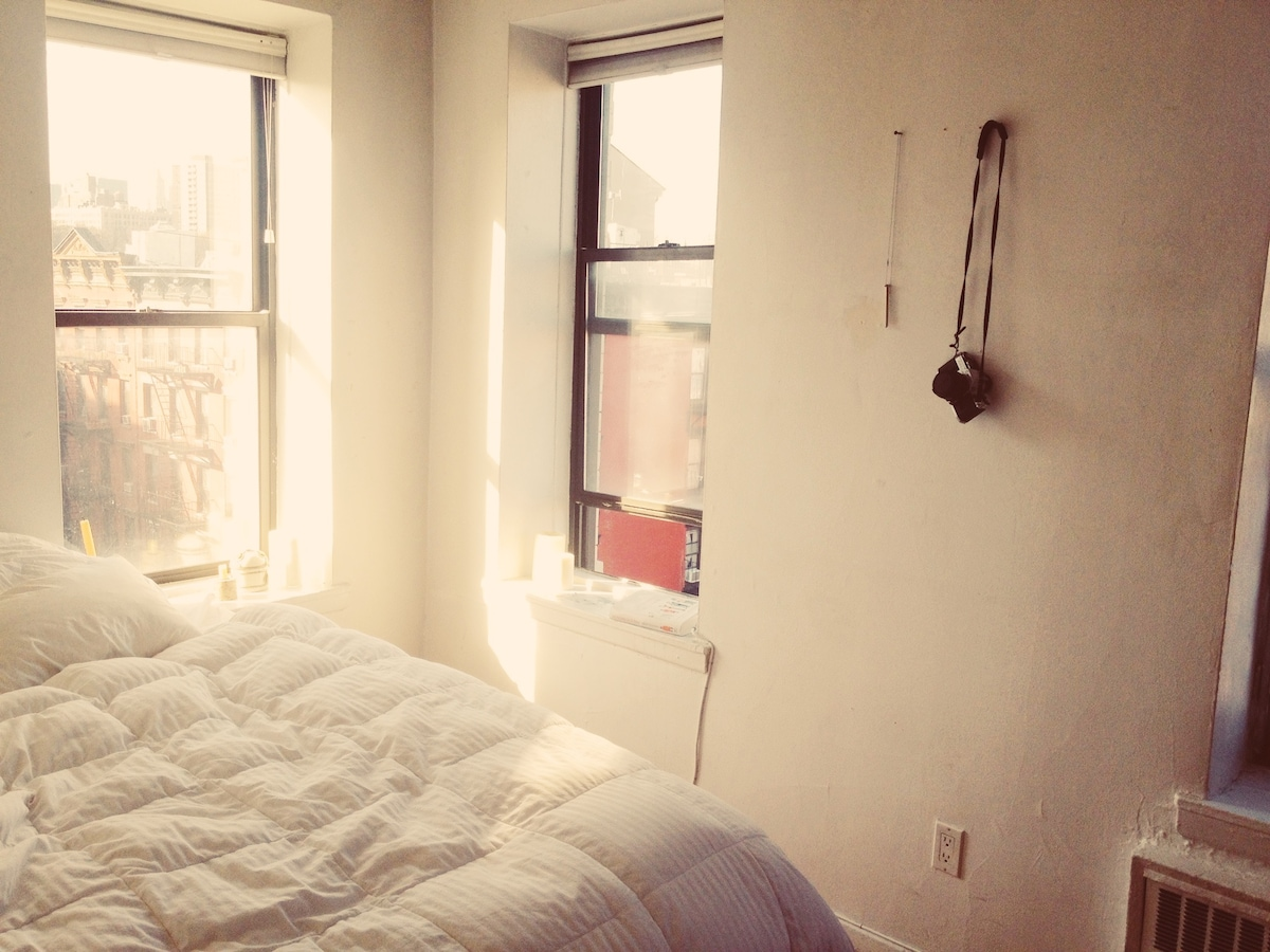 Sun-drenched East Village Pad
