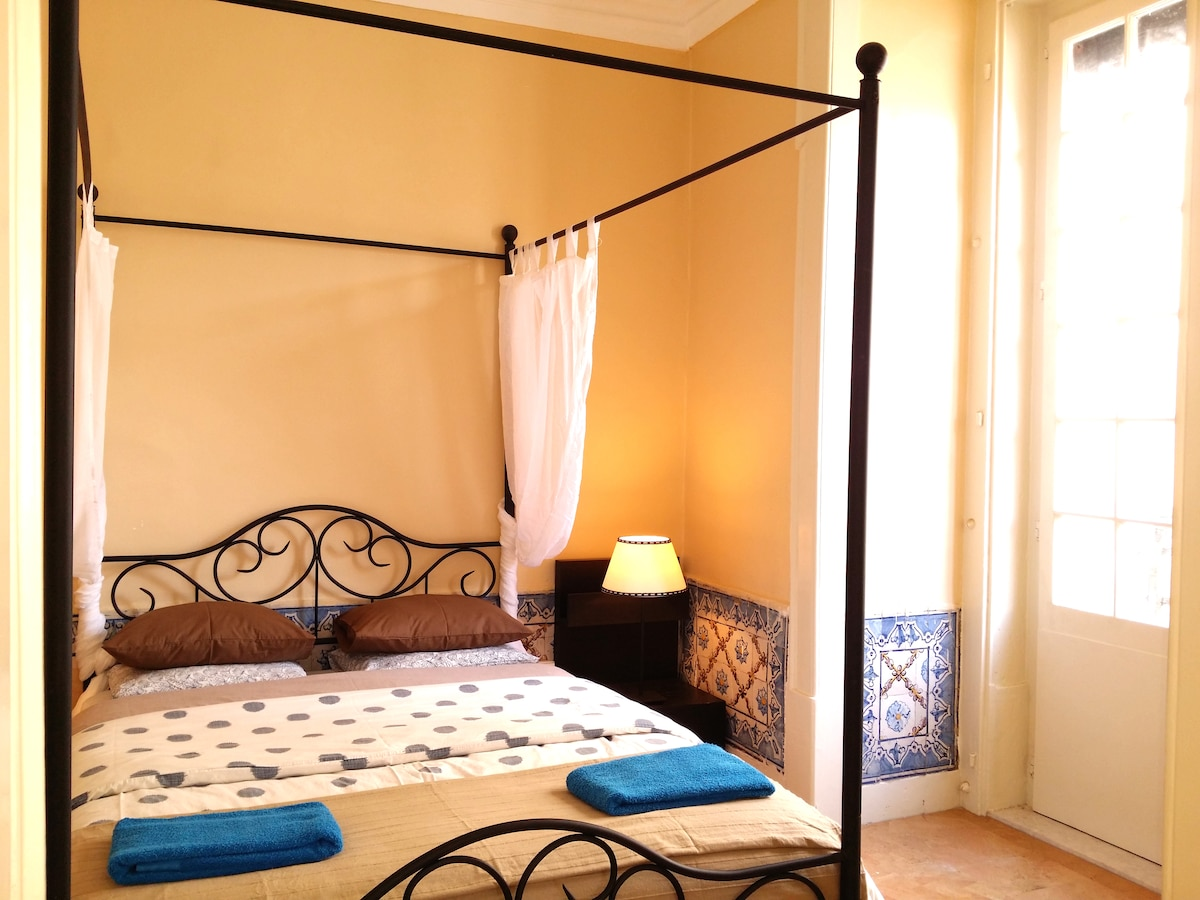 The apartment is located in Chiado, Lisbon chic 19th century city center,