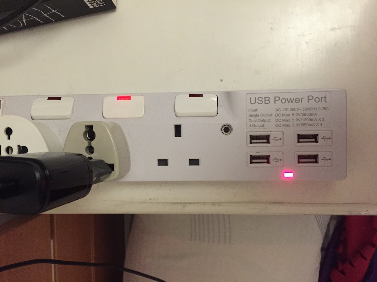 USB Charging Ports and AC adapters right beside the bed means that you will always be at full charge ;-)