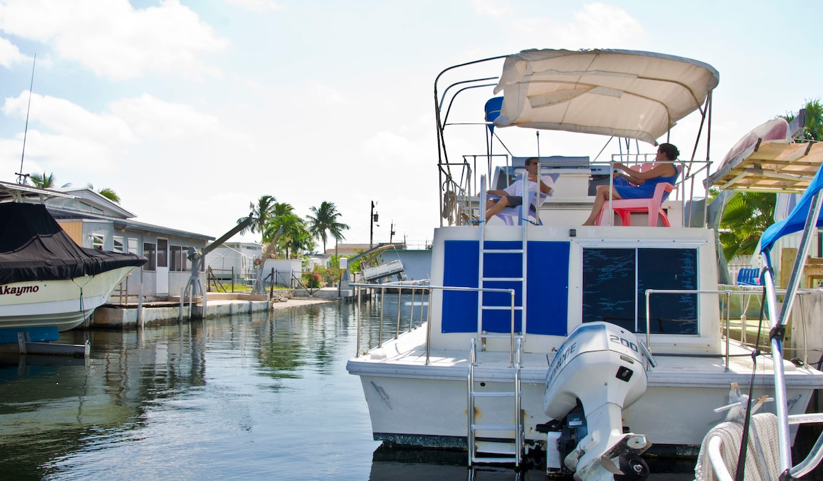 Key Largo fun SilverMOon HouseboaT!