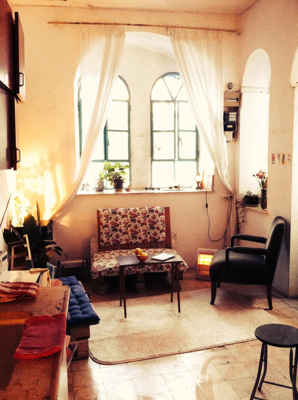 Studio in Nahlaot Jerusalem