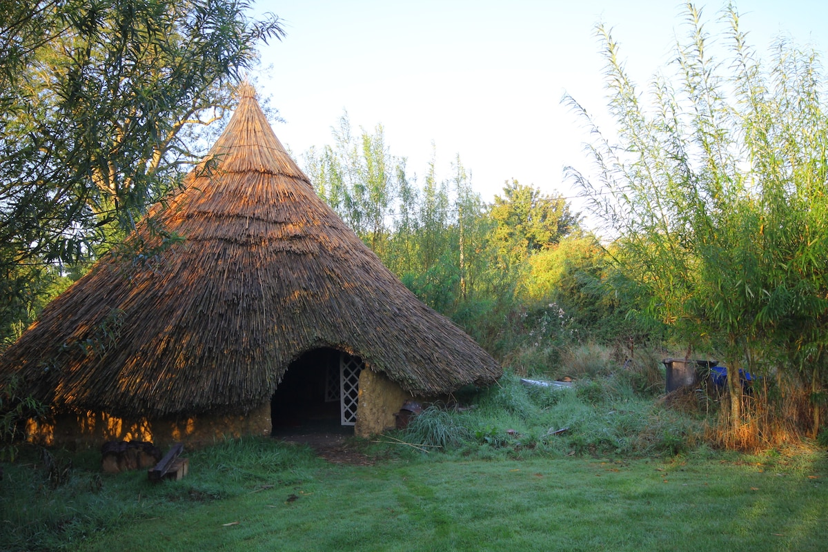 Yurt and Iron Age Roundhouse