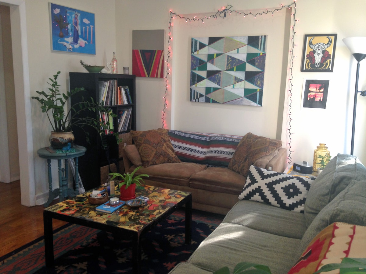 Colorful Room in Artsy BedStuy Home