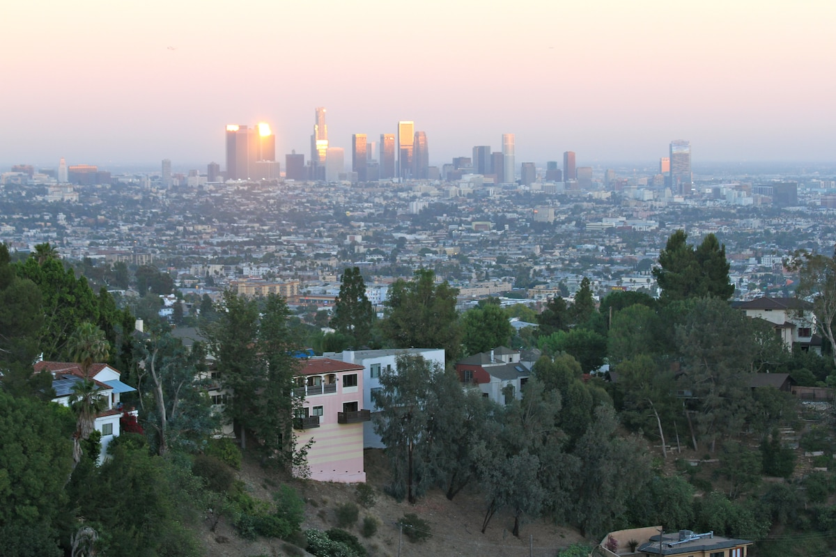 Views of Los Angeles from room