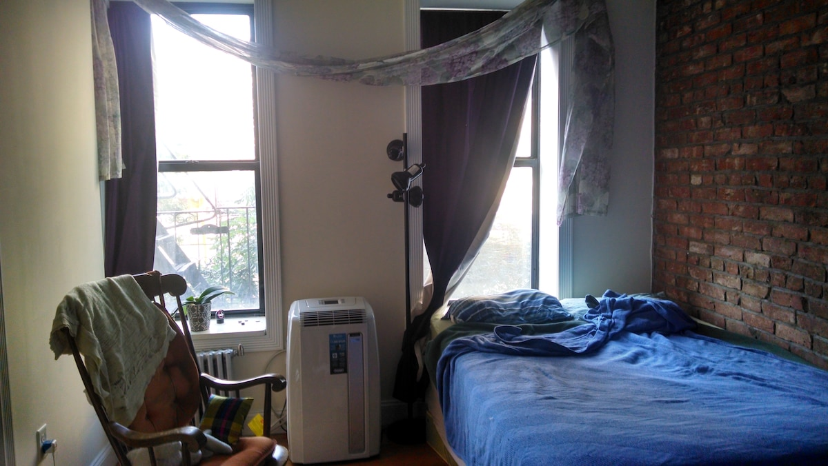 Sunny, spacious room in 3BR apt