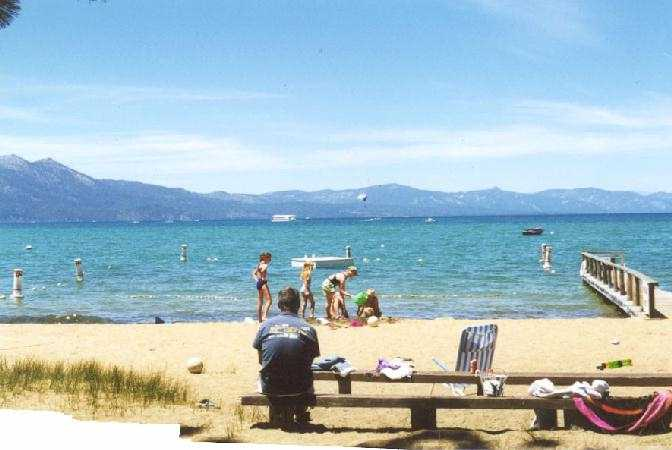 Lake Tahoe View, Private Beach