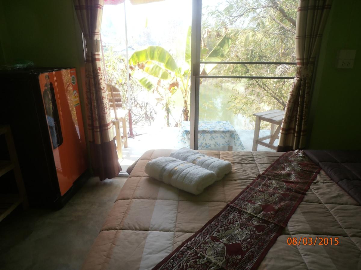 Oasis Pai Resort lake view.