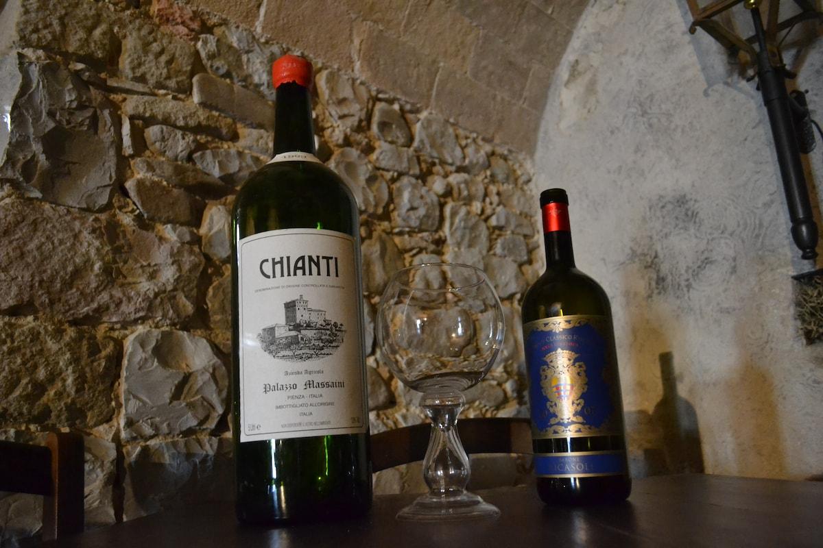 Chianti in our wine cellar