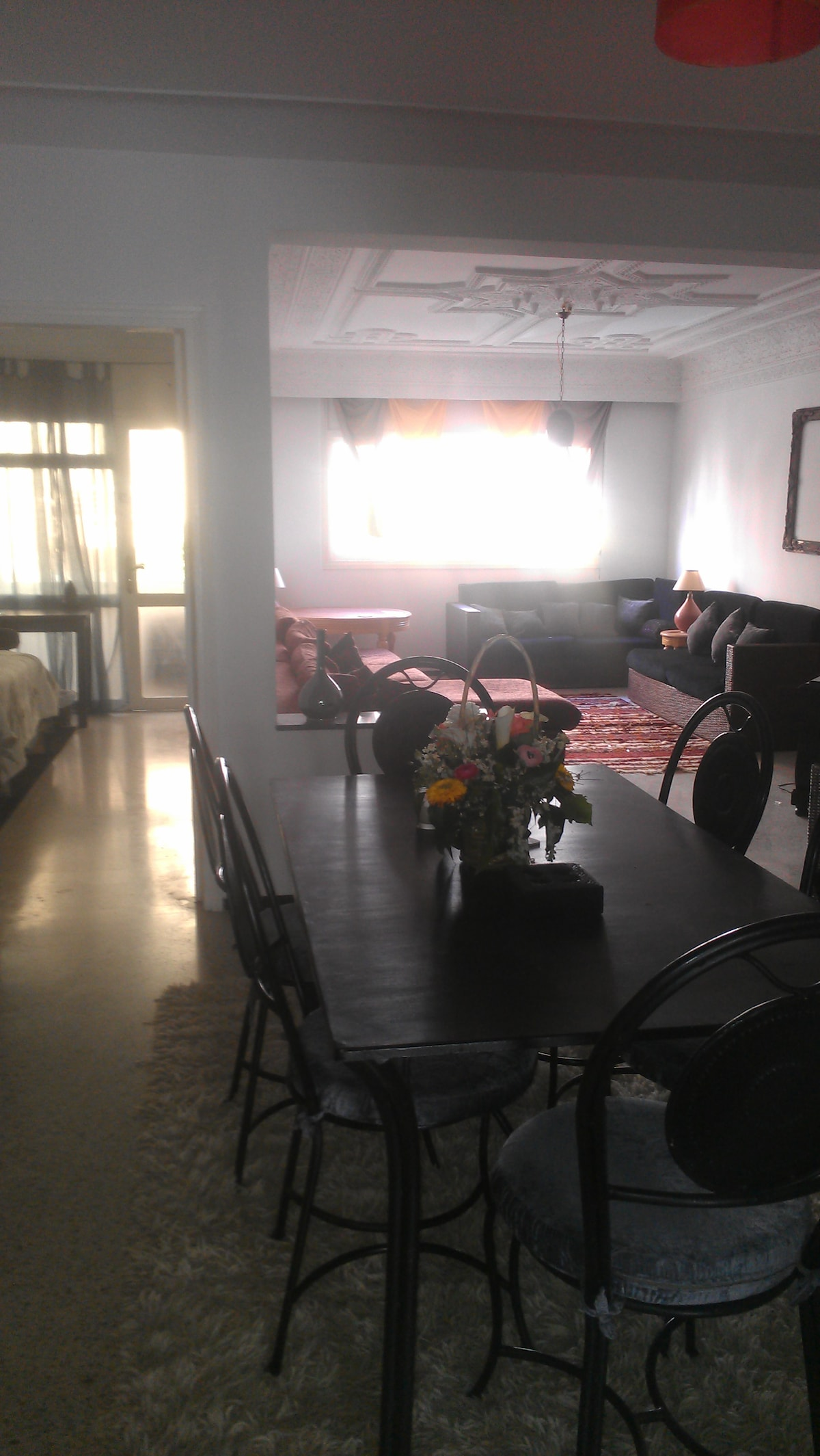 Beautiful dining room and salon behind!