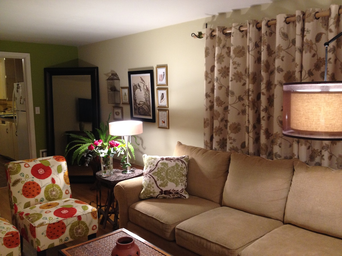 Don't stay cooped up in your room - you are welcome to enjoy the cozy common areas!