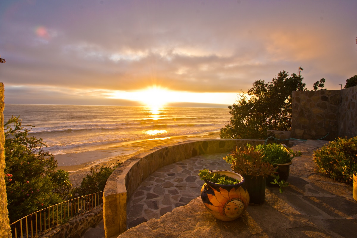 Enjoy the sunset from the lower patio.