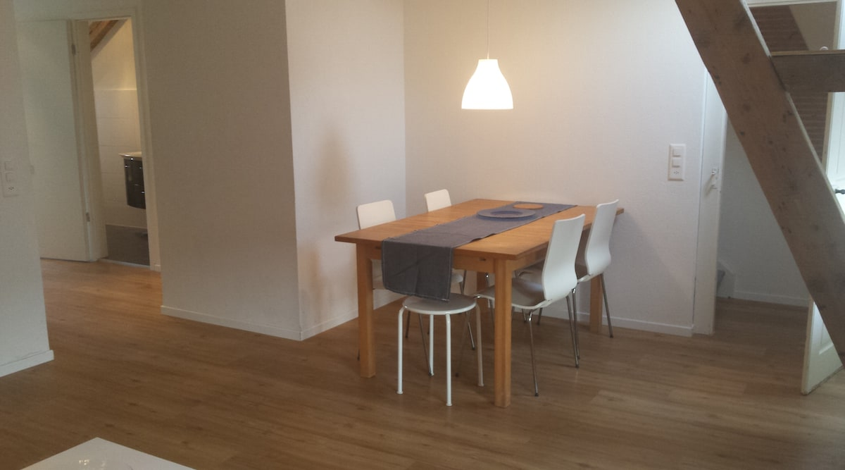 Dining table can be extended for up to 8 people