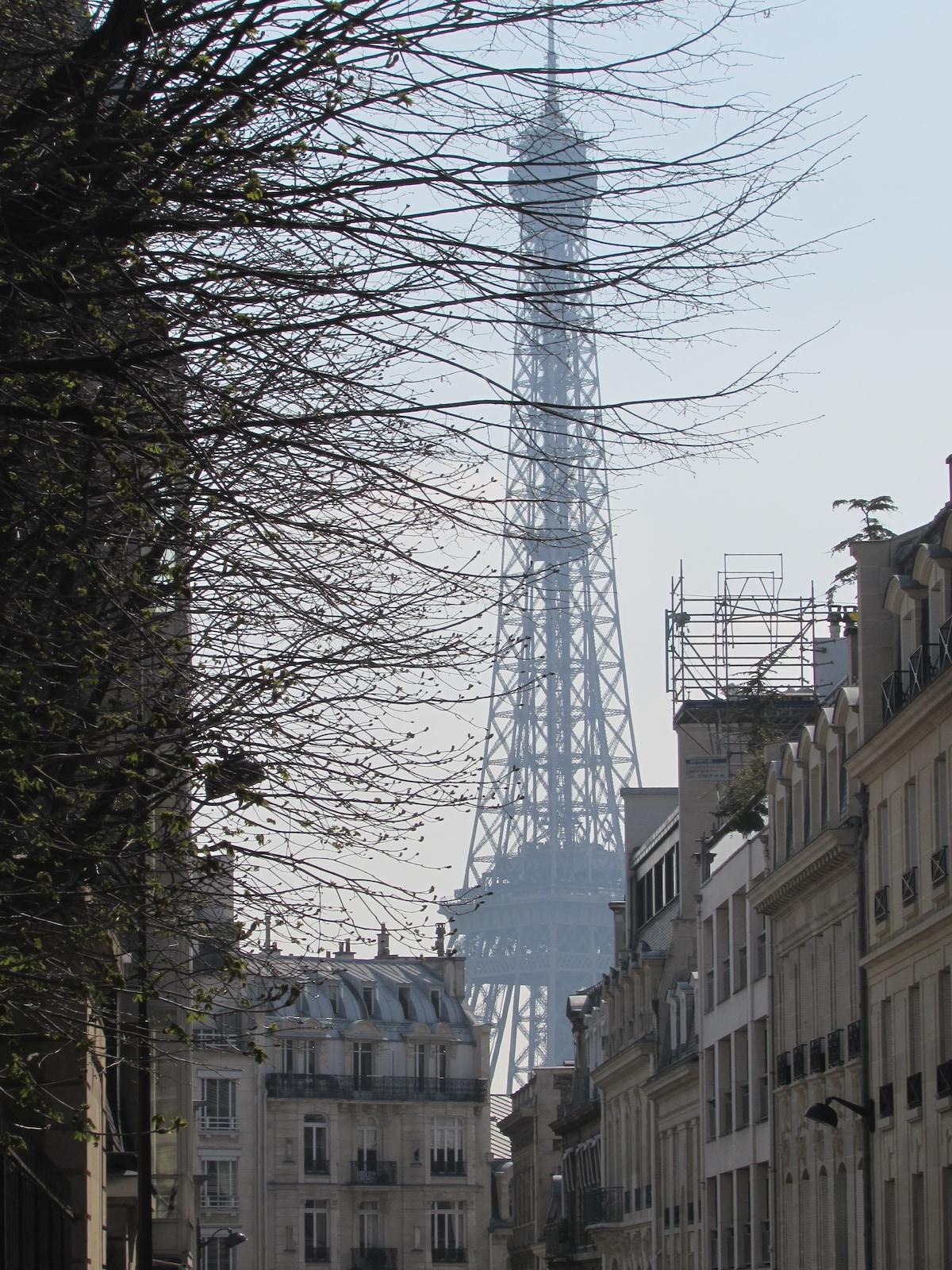 5mn à pied T Eiffel, Champs Elysées