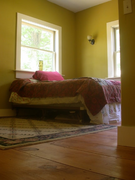 Vaughn's room is on the first floor and has a queen sized bed with a comfy memory foam mattress.